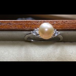 Fresh Water pearl with .925 band size 7